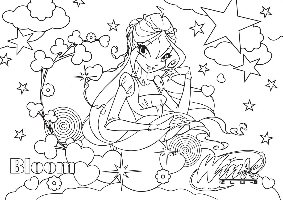 Colouring What A Magical Relaxing Activity Winx Club