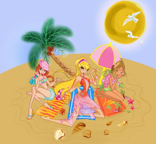 Güneşle Sihirli Boyama Winx Club