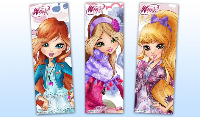 Winx glamour friends bookmarks