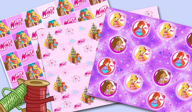 Christmas wrapping paper EN