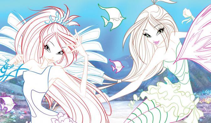 Poster Sirenix da colorare