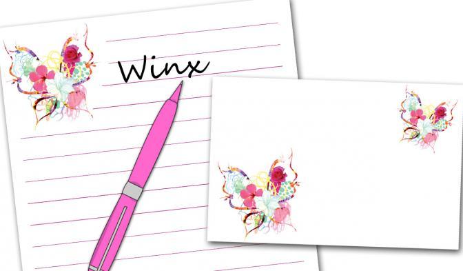 Writing paper + envelope
