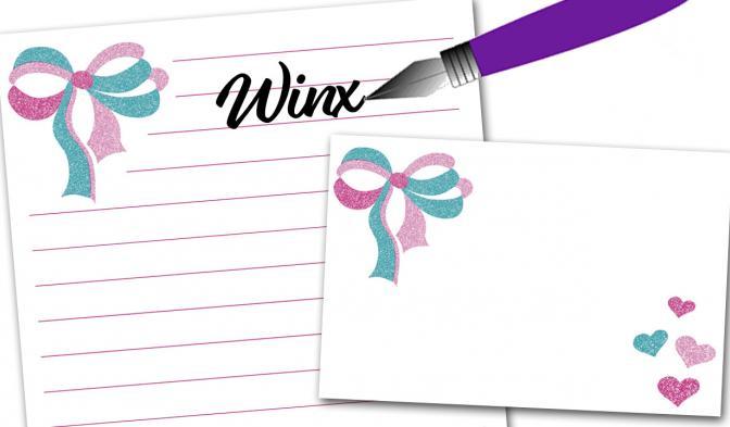 Winx writing paper