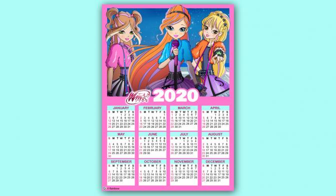 2020 Calendar RU