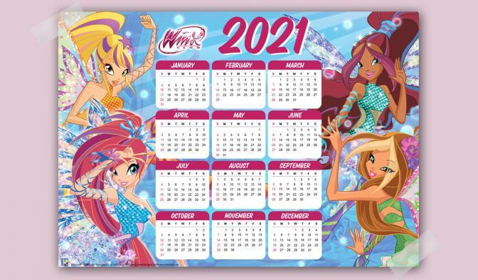 2021 Winx Calendar