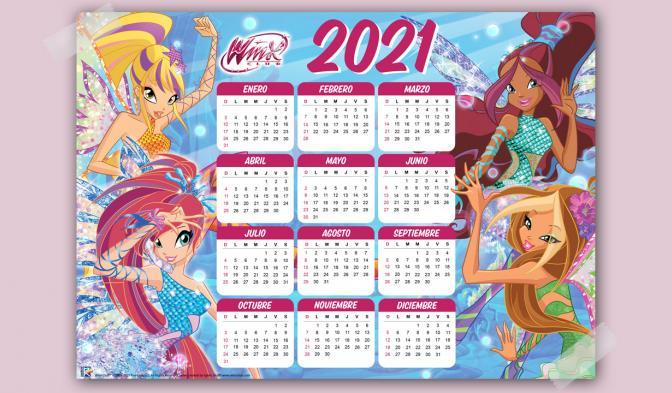 Calendario 2021 de Winx