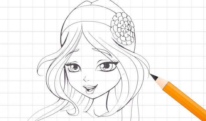Apprenez à dessiner Flora