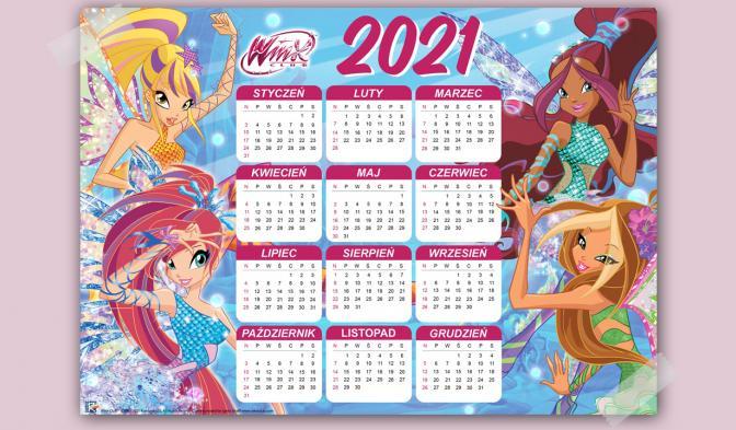 Kalendarz 2021 Winx