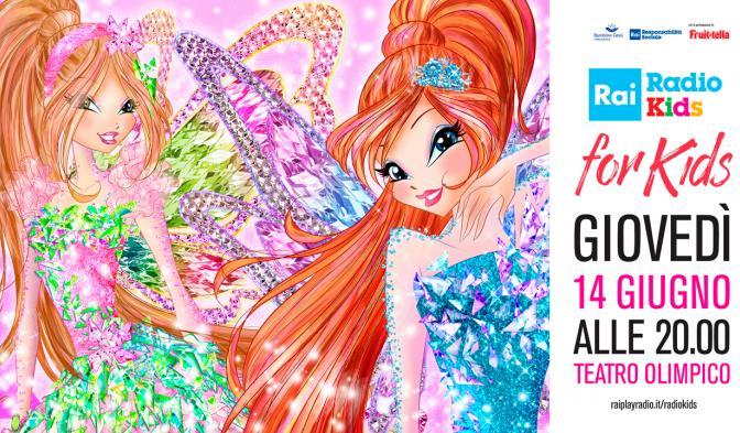La magia del Winx Club al Teatro Olimpico per il Rai Radio Kids for Kids!