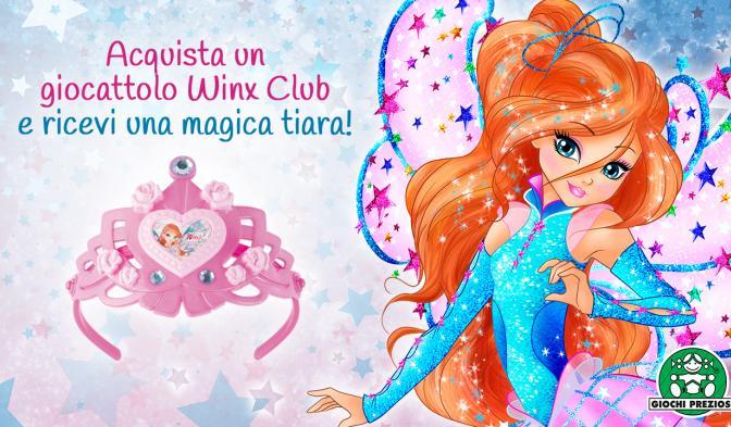 Acquistate un prodotto Winx Club e ricevete una magica tiara!